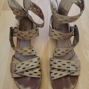 Camel colored sandals